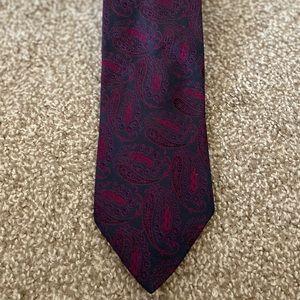 Vintage Fendi Paisley Silk Tie